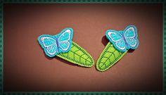 Haarklammern - 2x Haarspängchen,Schmetterling,Accessoire,Kinder - ein Designerstück von Joclame bei DaWanda