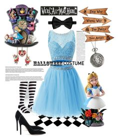 """Lovely alice"" by nancykou1 on Polyvore featuring Sock It To Me, Gianvito Rossi, Dsquared2 and Disney"