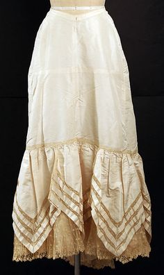 Petticoat Date: late 1890s Culture: probably French Medium: silk Dimensions: Length at CB: 40 in. (101.6 cm) Credit Line: Gift of Mrs. Wanamaker Munn, 1956 Accession Number: C.I.56.16.23