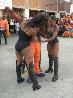 South Africa prisoners entertained by 'strippers' - BBC News Seductive Dance, Prison Inmates, Scantily Clad, Happy Animals, Thigh High Boots, Weekend Is Over, Thigh Highs, South Africa, Thighs