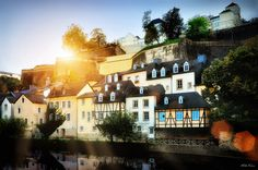 Luxembourg in the rays of sun - by Viktor Korostynski Wanderlust Travel, Travel With Kids, Places Ive Been, The Good Place, Sunrise, Beautiful Places, Places To Visit, Around The Worlds, Europe
