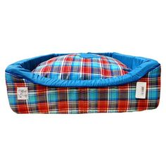 Cama Xadrez Azul E Vermelho São Pet - MeuAmigoPet.com.br #petshop #cachorro #cão #meuamigopet