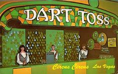 """""""Dart Toss"""" - 2nd Floor - Circus Circus Las Vegas, 1970's. (I remember this from when I was 13 & we went to my Aunt & Uncle's for Christmas)"""