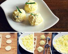 Canapé huevo palmito