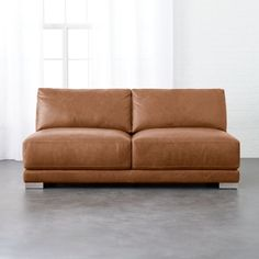 On sale. Designed by Mermelada Estudio, loveseat offers up laid-back vibe with minimalist lines and maximum comfort. Brown Leather Bar Stools, Brown Leather Loveseat, Leather Daybed, Rattan Loveseat, Rocking Chair Cushions, Loveseats For Small Spaces, Small Sofa, Grey Sectional Sofa, Sofas
