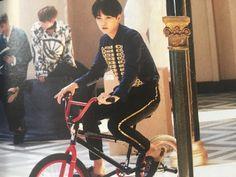 yoongi looks extra tiny on that bike ♡✧( ु Bts Wings, Baby Fairy, Agust D, Pretty Baby, Bts Suga, Bts Wallpaper, Bae, Kpop, Celebrities