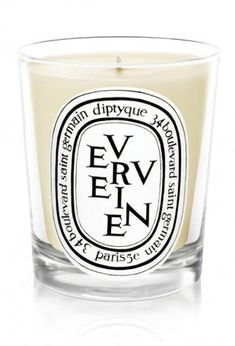 The best Diptyque candles! One of them is Verveine