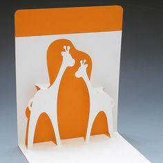 Happy Giraffes Pop-Up Card by desireux, via Flickr