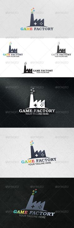 Game Factory - Logo Template by martinjamez 100 Vector File Format :EPSColor Mode :CMYKFont used : TeX Gyre Bonum Download Link : http://www.fontsquirrel.com/fonts/TeX-Gyre-