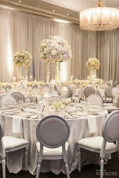 A gorgeous, all-white wedding featured in our current issue – Dekoration All White Wedding, White Wedding Flowers, Wedding Colors, Wedding Styles, Dream Wedding, Luxury Wedding, Star Wedding, Gold Wedding, Elegant Wedding