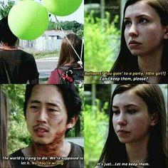 The Walking Dead Season 7 Episode 4 'Service' Eind and Glenn