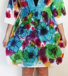 Watercolor tie dye tunic | Community Post: 28 Tie Dye DIYs That Won't Remind You Of Jerry Garcia