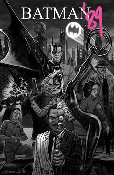 Picture this: Tim Burton's Batman cast plus a Billy Dee Williams Two-Face, Geena Davis Poison Ivy, and Christina Ricci Batgirl. No, it's not a Hollywood pitch but a comic book called Batman that DC Comics decided to pass on. Batman Poster, Batman Artwork, Batman Comic Art, Batman And Catwoman, Im Batman, Batman Arkham, Batman Robin, Batman Stuff, Arkham Knight