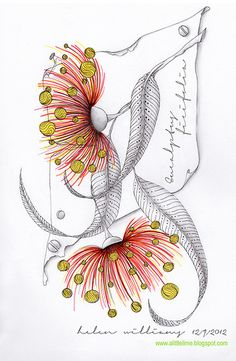 zentangle flowers from a little lime Dibujos Zentangle Art, Zentangle Drawings, Doodles Zentangles, Zentangle Patterns, Doodle Drawings, Doodle Art, Zen Doodle, Flower Drawings, Drawing Flowers