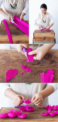 crepe paper peonies DIY