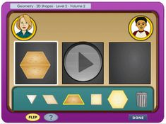 geometry. Practice combining and dividing 2D shapes with Ms. Betty and Simon.