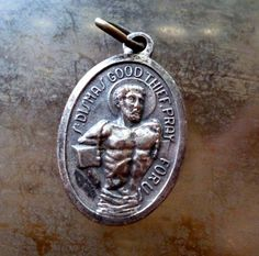 St. Dismas medal. Fergus' patron saint of thieves. #dragonflyinamber