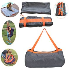 Outdoor Waterproof Travel Bag & Beach Blanket in one,Sunandy Multifunction Sandproof Light Picnic Mat for Beach Carpet Camping Blanket Picnic Pad Storage Bag (Grey-Orange). Easy to clean:Super Easy to clean with washing machine,when stained by liquids,just need wipe it with a wet towel or tissues!. Waterproof & Sandproof & Lightweight:Comfortable,Sturdy,durable,lightweight.Made of high quality waterproof and sandproof 420D Nylon,100% waterproof,don't worry about getting wet when it was...