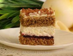 Ciasto orzechowo – kawowo -  kajmakowe z kremem serowym Vanilla Cake, Tiramisu, Cheesecake, Cooking Recipes, Sweets, Cookies, Baking, Ethnic Recipes, Food