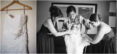 Bridesmaids wearing dresses in Skipper