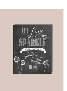 Instant Download - Chalkboard SPARKLERS Sign - DIY, Wedding reception, Vintage Wedding Sign, Chalkboard Let Love Sparkle Sign