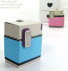 Stampin Up UK Colour Clash Gift Box Tutorial 4