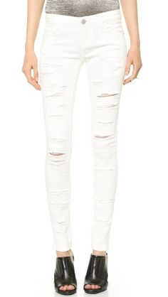 Blank Denim Destroyed Skinny Jeans shopbop.com