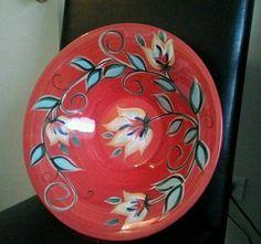 Southern Living At Home Gail Pittman Hand Painted Ruffled Bowl