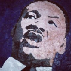 A school art project for MLK Day. Torn paper collage.