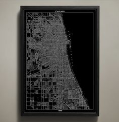 print poster chicago map
