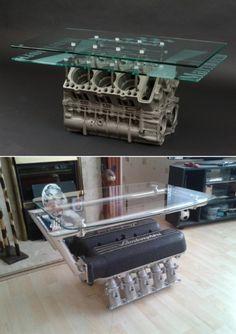 moveis partes de carros 1 engine coffe tables