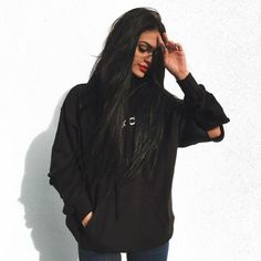 girl, fashion, and black image Gina Lorena, Teenage Girl Photography, Mein Style, Long Black Hair, Black Image, Tumblr Girls, White Girls, Urban Fashion, Dark Fashion