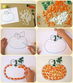 These fall crafts for kids are wonderful! I'm always amazed how creative people are! There are lots of great ideas here that the kids are going to love and happy Fall Crafts For Toddlers, Toddler Crafts, Diy Crafts For Kids, Fun Crafts, Art For Kids, Arts And Crafts, Kids Diy, Decor Crafts, Autumn Activities