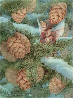 Egan Christmas Winter Fairy Greeting Card by brownieman on Etsy, $2.75 Snow Fairy, Winter Fairy, Fairy Land, Fairy Tales, Fairy Paintings, Creation Photo, Cicely Mary Barker, Christmas Fairy, Celtic Christmas