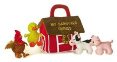 The My Barnyard Friends Plush Farm Animals Playset for Babies by Aurora is the perfect way to start learning about farm life. This darling plush playset comes with a plush barn carrier & 4 small plush farm animals! Plush Animals, Farm Animals, Cute Animals, Stuffed Animals, Stuffed Toys, Toddler Toys, Baby Toys, Friends Set, Kids Store