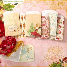 NEW! A Christmas Story ~ Mini Envelopes!  Love this new collection and hope I win it!  :D  It will make some great Christmas cards.