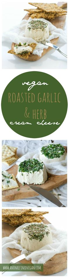 From my plant-based, whole food cookbook, Crave Eat Heal, satisfy your craving for creamy, garlicky goodness with Roasted Garlic & Herb Cream Cheese. Gluten-free, oil-free.