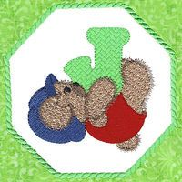 Baby Bear Alphabet - Free Instant Machine Embroidery Designs