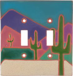 THREE SAGUAROS Switch Plates, Outlet Covers & Rocker Switchplates