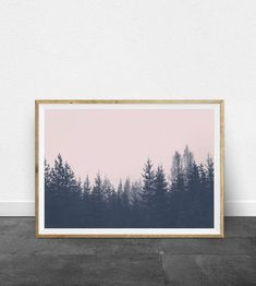 Tree Wall Art Forest Print Landscape Photography Minimalist