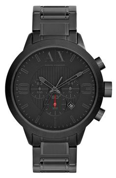 AX Armani Exchange Round Chronograph Bracelet Watch, 47mm available at #Nordstrom