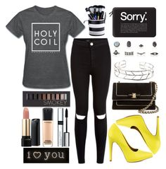 """Holy coil"" by prettyorchid22 ❤ liked on Polyvore featuring Qupid, Salvatore Ferragamo, Casetify, Forever 21, Lancôme, MAC Cosmetics, By Terry and Seletti"