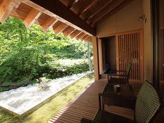 """View from the room (""""Yamado"""", Yugawa Onsen Spa Resort, Yuda Hot Spring Village, Iwate, Japan)"""