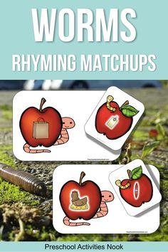 Rhyming Matchups For A Preschool Worms Unit