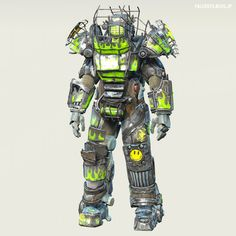"""Fallout 4 : Raider Power Armor Chop-Shop by MadMAX713. """"Rad Strom"""" #fallout #Post_Apocalyptic #Sci_Fi"""