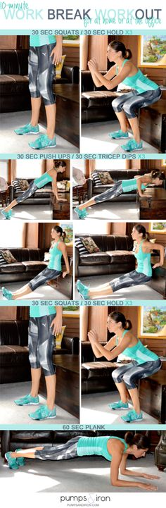 10-Minute Work-Break Workout, Pumps and Iron