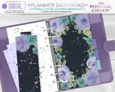 PERSONAL size Planner dashboard printable by DoradaPrintables