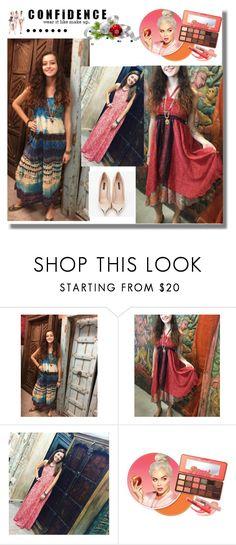 """Women Boho Fashion Sun dress"" by era-chandok ❤ liked on Polyvore featuring Louis Vuitton and Superga"