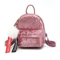 94233c2d4dae Velvet Mini Backpack  4 Variants . Universe of goods - Buy