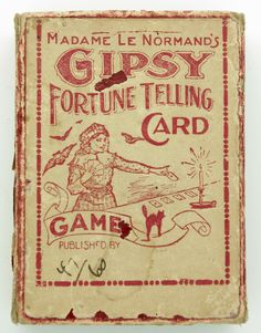 Madame Le Normands Gipsy Fortune Telling Card Game - ANTIQUE